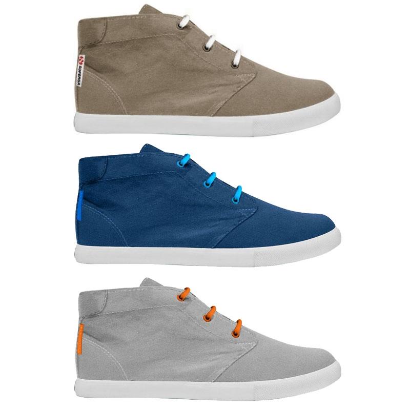 Caricamento dell immagine in corso Scarpe-Sneakers-con-lacci-Mid-cut -cotone-Superga- d7c8000e25c