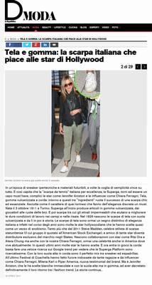 Tela e gomma: la scarpa italiana che piace alle star di Hollywood (Superga Italy)