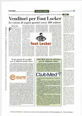 Venditori per Foot Locker
