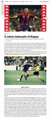 Il calcio indossato di Kappa