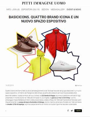 BasicIcons. quattro brand icona e un nuovo spazio espositivo