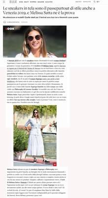Le sneakers in tela sono il passepartout di stile anche a Venezia 2019, e Melissa Satta ne è la prova (Superga Italy)
