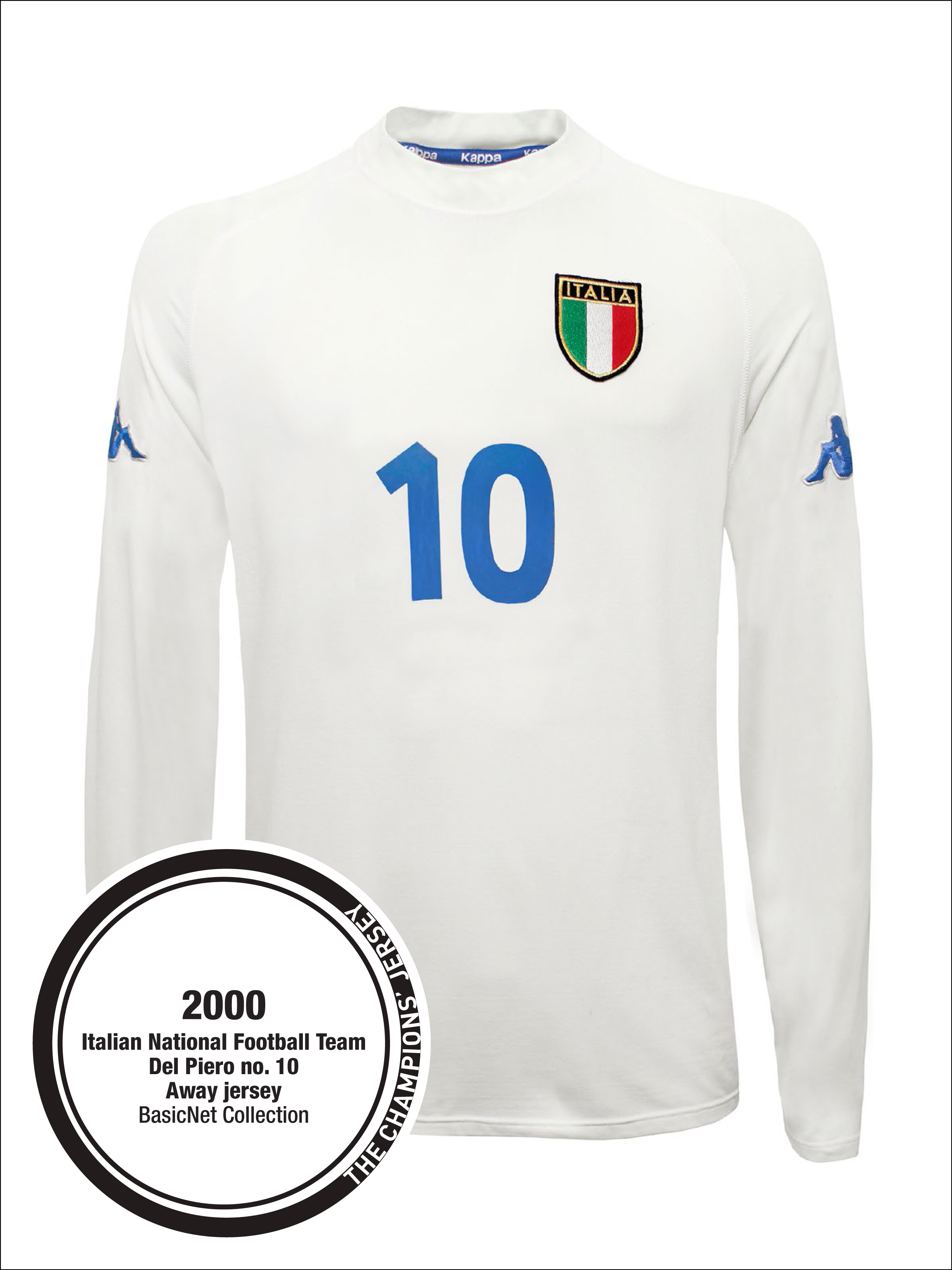 e4ddfe428 italy 10 del piero white away long sleeves 2016 2017 country national team  soccer jerseys